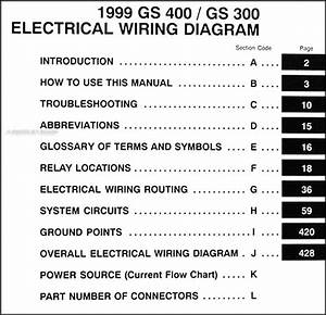 1999 Lexus Gs 300 400 Wiring Diagram Manual Original