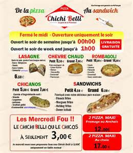 chichi belli 224 port de bouc carte menu et photos