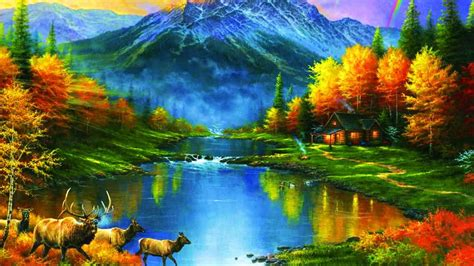Mountains At Fall Trees Leaves Lakes Colors Ultra Hd