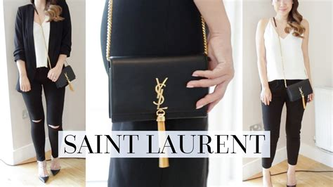 fits   outfit styling ideas saint laurent kate bag youtube
