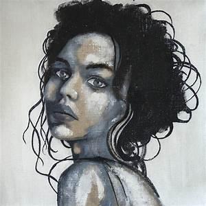 Fille Noir Et Blanc : portrait noir et blanc portrait visage femme fille noir blanc ~ Melissatoandfro.com Idées de Décoration