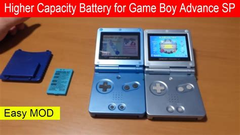 gameboy color mods how to modify battery for nintendo boy advance sp gba