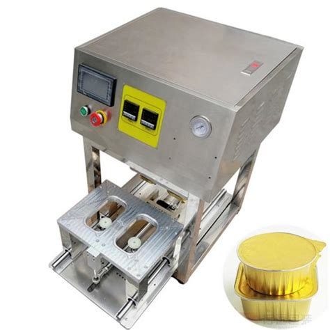 aluminium container heat sealing foil lid machinetray sealing foil machine supplier