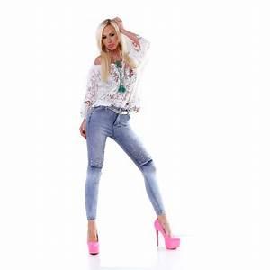 Jeans Mit Schmuckperlen : trendstylez sexy jeansmode skinnyjeans damen h ftjeans lederhosen ~ Frokenaadalensverden.com Haus und Dekorationen