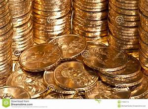 Stacks Of US Dollar Gold Coins Stock Photo - Image: 11365714