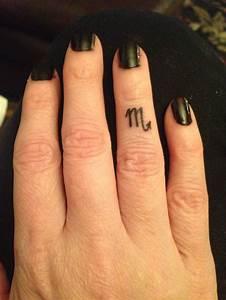 Zodiac (Scorpio) finger tattoo | Tats | Pinterest | Zodiac ...