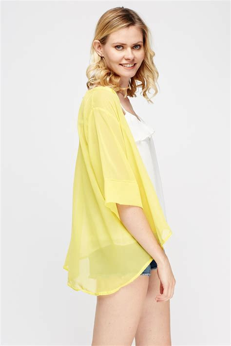 Open Front Sheer Kimono   3 Colours   Just £5
