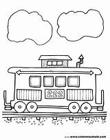 Coloring Caboose Dentistmitcham sketch template
