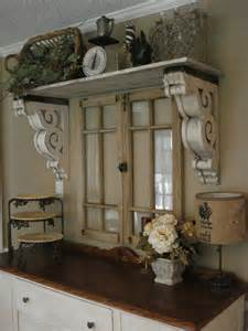 Kitchen Window Shelves with Corbels