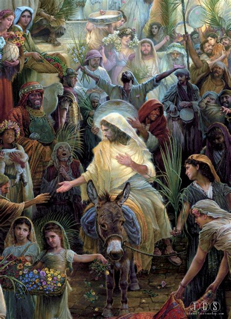 Lean Into Jesus Palm Sunday Devotional Vintage Pics