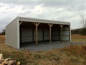 Pole barn 12x40 loafing shed material list building plans for 4 bay pole barn