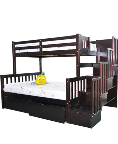 lit superposé avec lit superposé 39 quot 54 quot expresso avec escalier flamingo green