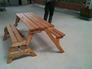 Tisch Klappbar Holz : klapptisch bank youtube ~ Orissabook.com Haus und Dekorationen