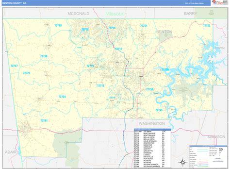 Benton County Ar Zip Code Wall Map Basic Style By Marketmaps