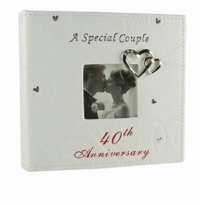 ruby 40th wedding anniversary photo album special couple With gifts for 40th wedding anniversary