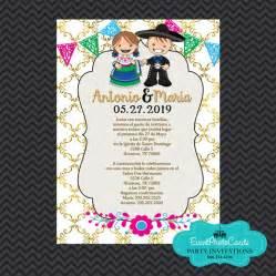 Mexican Invitations Wedding Gold Invitaciones De Boda Estilo Mexico Charro