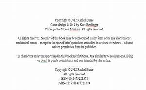 how to publish an ebook on amazons kindle store rachel With copyright template for book