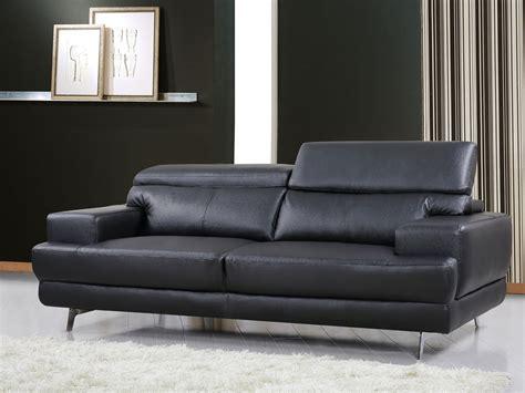 changer couleur canapé cuir canapé cuir reconstitué pvc quot venise quot 3 places noir