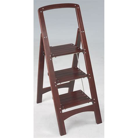 Wood Folding Step Stool In Step Stools