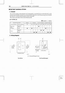Seat Belt Warning System 1  General 2  Wiring Diagram