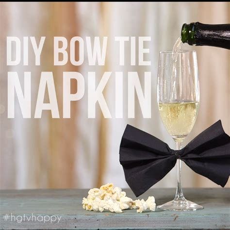 diy bow tie napkin hgtv happy pinterest bow tie