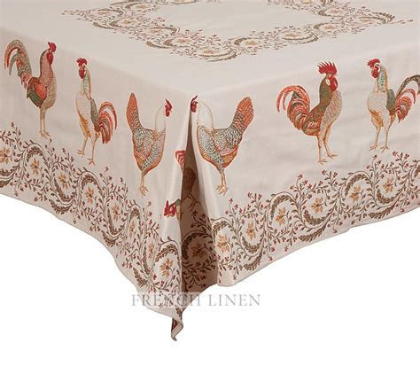"""Chanteclair"" Rectangle Jacquard Tablecloth ? French Linen"