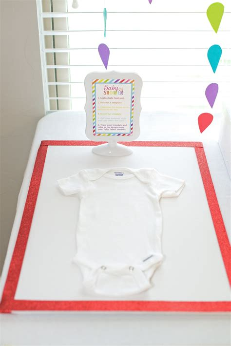gerber onesies baby shower station  tulip fabric