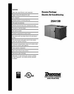 Electric Air Conditioning 2sa13b Manuals