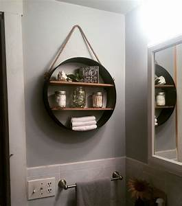 rustic bathroom shelf from hobby lobby in love my With tips to decorate bathroom storage shelves