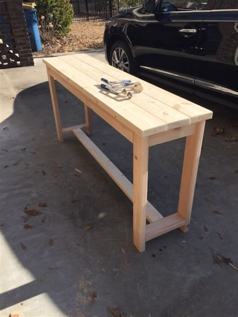 diy sofa table plans diy x brace console table free plans rogue engineer