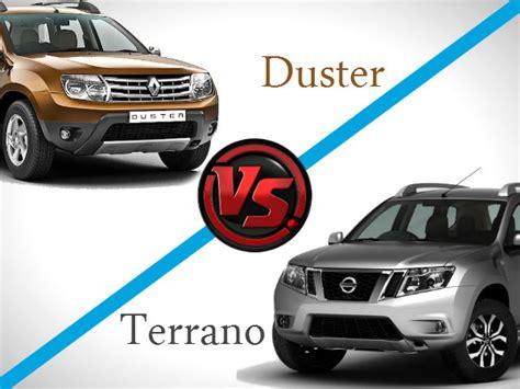 nissan terrano vs renault duster nissan terrano renault duster a comparison
