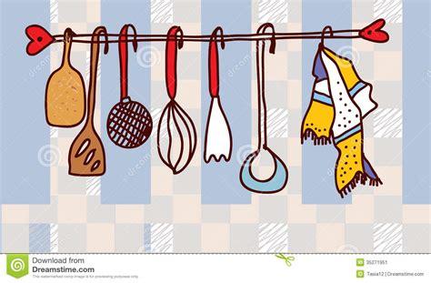 location ustensile de cuisine étagère d 39 ustensiles de cuisine drôle image stock image