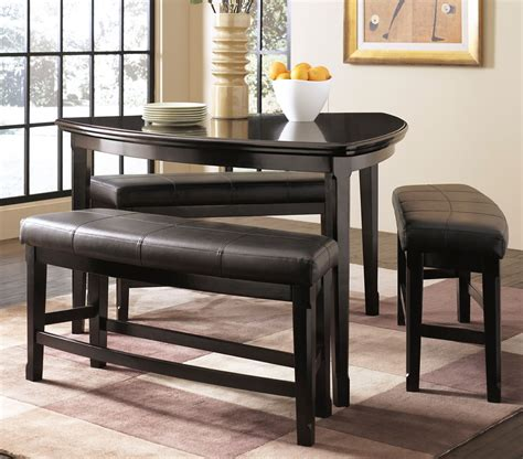 triangle dining table  bench designs