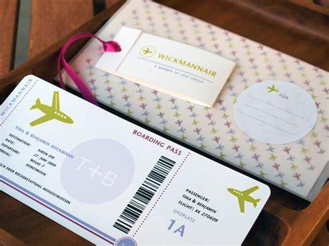 hochzeitskarten boarding pass hochzeitskarte fuer