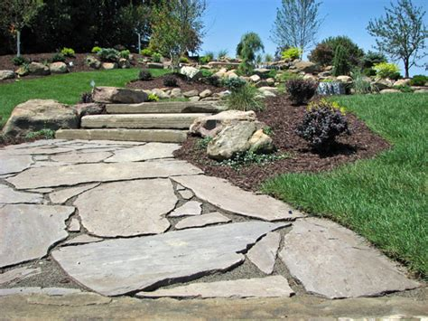 flagstone paver walkway b t klein s landscaping hardscapes walkways