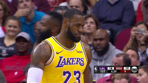 LeBron James Hits the Referee With Ball, Referee Smiles ...