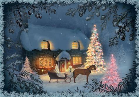 beautiful christmas scene pictures   images