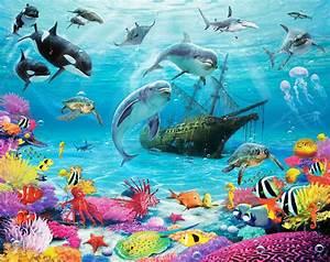 Transportbox Für Fische : walltastic fototapete delfine fische meereswelt www 4 ~ Michelbontemps.com Haus und Dekorationen