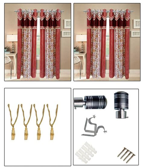 Curtain Rod Set India by Homefab India Polyester Set Of 4 Door Curtains