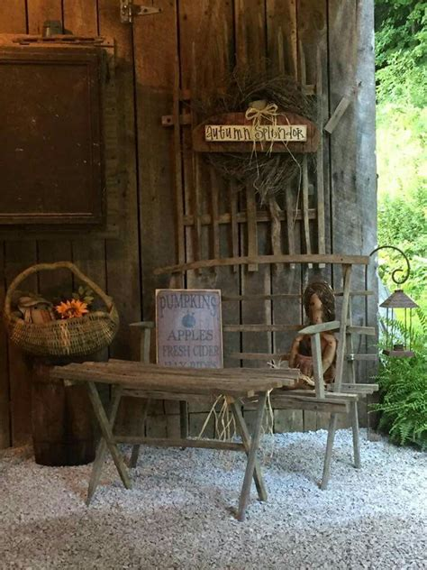 Best Images About Primitive Fall Porch Outdoor Displays