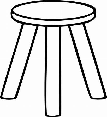 Stool Legged Three Outline Clip Clker Legs