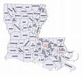 Louisiana County Map