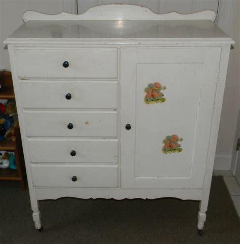Armoire Dresser Combo by Vintage Antique Child Youth Dresser Drawer Closet