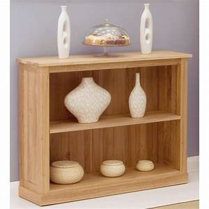 Mobel Bookcase Low Small Solid Oak Living Room Office