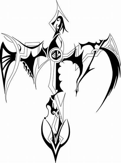 Tribal Cross Tattoo Tattoos Crosses Drawings Designs