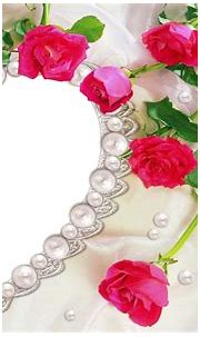 Heart-Shaped Pearl Necklace and Pink Roses HD Wallpaper ...
