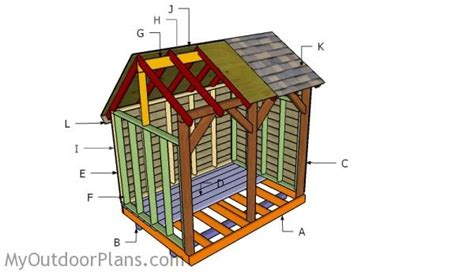 6x8 saltbox shed plans 6x8 wood shed roof plans myoutdoorplans free