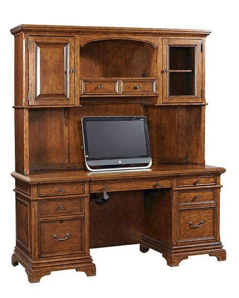 credenza desk and hutch aspenhome credenza desk and hutch hawthorne asi26 316 319