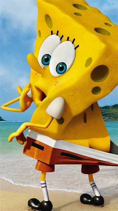 Spongebob Funny Iphone Squarepants Beach Wallpapers