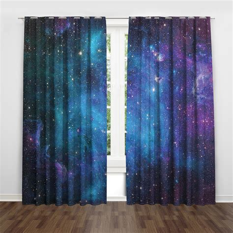 Product Of The Week A Beautiful Space Themed Set Made Of Wood Magnets by Galaxy Space Themed Window Bedroom Curtain Blue Sky